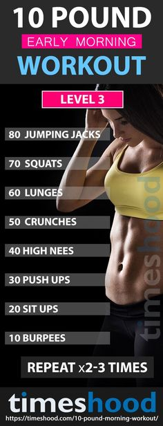 Want o lose weight fast? Try this morning workout to lose 10 pounds. From diet to exercise, from beginners to advanced level for weight loss. Choose which is yours. Fast weight loss plan. Best weight loss workouts. Easy weight loss exercise. Lose 10 pounds with workout. 10 pound morning workout. Fast weight loss plan.