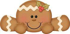 "Photo from album ""Jss_gingerrific"" on Yandex. Christmas Clipart, Christmas Printables, Christmas Art, Christmas Cookies, Christmas Holidays, Gingerbread Decorations, Christmas Gingerbread, Christmas Decorations, Gingerbread Ornaments"