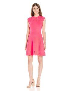 eea7a03001a00 Amazon.com  Ted Baker Women s Zaralie Jacquard Panel Skater Dress  Clothing  Ted Baker