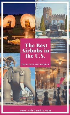 Whether you want to stay in an old train car, a lighthouse, or even spend a weekend in the Oscar Mayer Weinermobile, there are fun & unusual Airbnbs across all of America. Discover the Best Airbnbs in the U.S. today! #airbnb #UniqueAirbnb #AirbnbUSA #BestAirbnbs #BestAirbnbsInTheUS #UnusualAirbnbns Adventure Bucket List, Adventure Travel, Airbnb Usa, Travel Usa, Travel Tips, Travel Destinations, Travel Abroad, Travel Hacks, Travel Guides