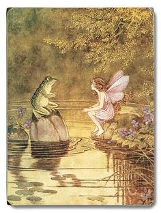 Wall Sign: Fairy & Frog : 9x12in