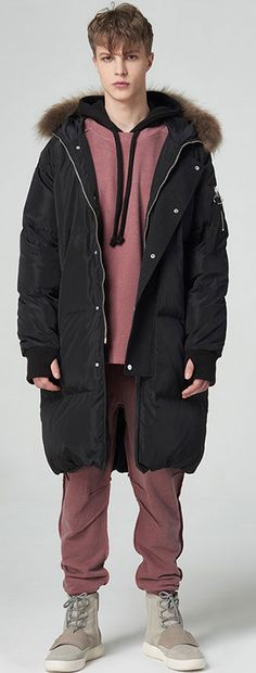 무릎 기장까지 내려오는 롱패딩 special sale! *무한도전 하하 착용 CANE BROS MA-1 LONG PADDING JUMPER_BK Boy Fashion, Mens Fashion, Down Coat, Jumper, Street Wear, Winter Jackets, Menswear, Street Style, Costumes