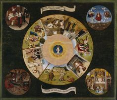 Hieronymus Bosch- The Seven Deadly Sins and the Four Last Things - 七つの大罪