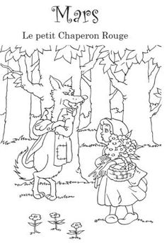 Little Red Riding Hood coloring page. I would use these