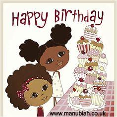 171 Best Images About Ma Nubiah Greeting Cards Www Happy Birthday Black, Happy Birthday Kids, Twin Birthday, Kids Birthday Cards, Birthday Images, Birthday Greeting Cards, Birthday Greetings, Birthday Wishes, Happy Birthdays