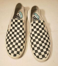 RARE VANS Comfy Cush One Slip On Checkered Marshmallow Shoes 1 700 Mens sz 9 cd052b71d