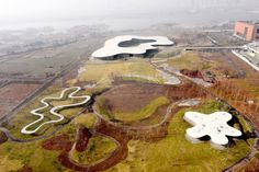 paulo dos sousa has documented the ryue nishizawa-designed 'jining art museum,' which recently opened in china's shandong province. Ryue Nishizawa, Instagram Status, Architectural Photographers, Outside World, Urban Architecture, Media Images, Outdoor Areas, Park City, Art Museum