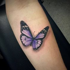 Chronic Ink Tattoo - Toronto Tattoo  Realistic butterfly tattoo done at our shop by guest artist Janice.