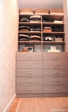 gray walk-in closet design // simplifiedbee.com