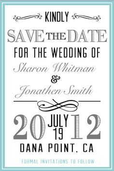 Love these Save the Dates!  Wedding Invitation Cards by olivepresspaper, $12.75