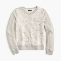 Note to Stylist: I think this lace sweatshirt is a cute and comfy weekend look for daytime, whether staying home or going to brunch.