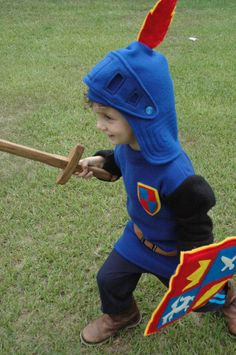 Mike The Knight Inspired Fleece Tunic - Made to Order - Halloween Costume - Halloween Costume - Kid Costume. $75.00, via Etsy.