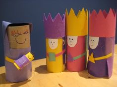 Make these - but Royalty rather than nativity obviously.
