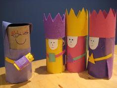 Christmas craft: junk model homemade nativity scene for children