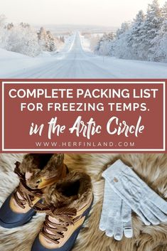 Freezing winter temperatures in the arctic circle can be daunting. Have no fear, dressing for the cold weather is made easy with my ultimate Lapland packing list! #lapland #travelfinland Travel Things, Best Places To Travel, Best Cities, Finland Destinations, Finland Travel, Lapland Finland, Visit Santa, Arctic Circle, Cool Countries