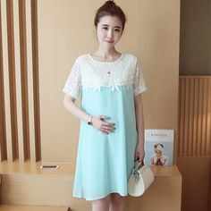 38.07$  Watch here - http://alir71.shopchina.info/go.php?t=32680459488 - Summer Pregnant Woman Maternity Dresses Clothing Clothes New Women Dress Top Spring Summer Fashion Models  #aliexpressideas