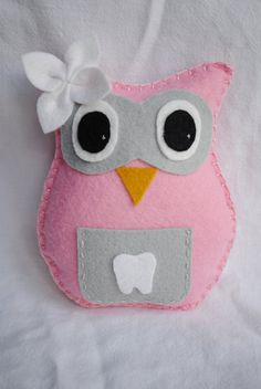 Owl Tooth Fairy Pillow. Someone please make this for me when I have kids!