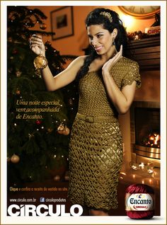 Receitas Círculo - Vestido Dourado