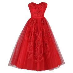 Vintage 1950s Red Tulle Sequins Cocktail Dress