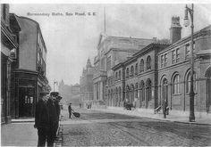Grange Road Baths - Pictures of Bermondsey Rotherhithe Bermondsey London, Bermondsey Street, Vintage London, Old London, London Pictures, London Photos, Bath Pictures, London History, London Places
