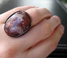 SALE Exploding Star Ring Oxidized Copper by HardCandyGems on Etsy, $44.20