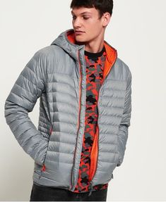 Buy Superdry Chromatic Core Down Jacket from the Next UK online shop Nylons, Mens Down Jacket, Superdry Mens, Unisex Baby Clothes, Lightweight Jacket, Jackets Online, Gray Jacket, Trendy Plus Size, Relleno