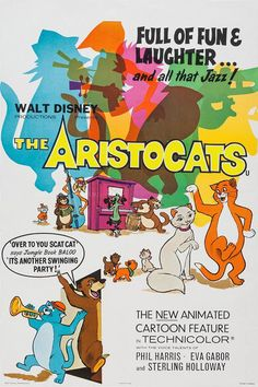 "#3. An Aristocats promotional poster that bridges the gap with ""The Jungle Book."""