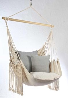 Hammock Chair, Hanging Chair, Style Ibiza, Boho Style, Ibiza Fashion, White Sand Beach, Outdoor Furniture, Outdoor Decor, Night Life
