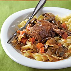 Braised Short Ribs with Egg Noodles Recipe | MyRecipes.com