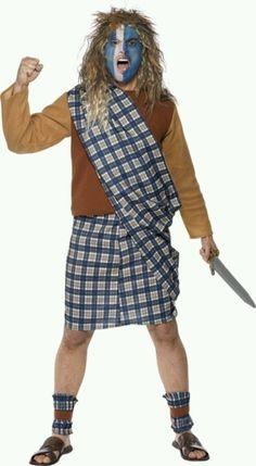 Goodwill Halloween Diy costume (brave heart) #Goodwill #upcycle #costume #Halloween #DIY