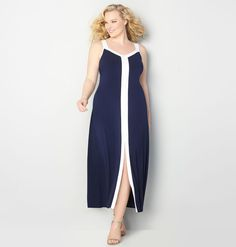 Shop new plus size maxi dresses in sizes 14-32 like the Colorblock Maxi Dress available online at avenue.com. Avenue Store