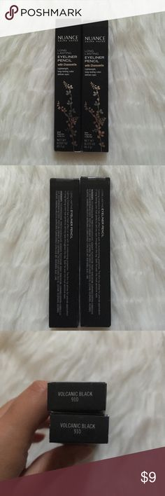 Volcanic Black Eyeliner Pencil Nuance Salma Hayek NWT   Price firm unless bundled  Price is for one!  If you want both let me know and I'll adjust the price   Box only opened for the picture, actual product has never been opened   NO HOLDS  NO TRADES Nuance Salma Hayek Makeup Eyeliner