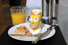 The Simpsons Egg Cup With Toast Stamp And Cutter