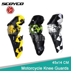 [Visit to Buy] 45x14 CM Motorcycle Knee Pads Protective Guards Offroad ATV UTV Racing Motocross Armor Protect Gear Pads Black Yellow Green  #Advertisement