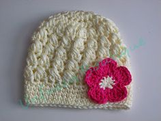 Free crochet hat pattern:  Puff stitch, CUTE! :)