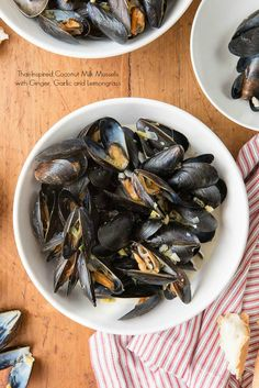 Thai-Style Mussels With Lemongrass Recipe — Dishmaps