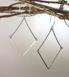 Chevron Silver Earrings | Jewelry Earrings | Flicker & Fleet | Scoutmob Shoppe | Product Detail