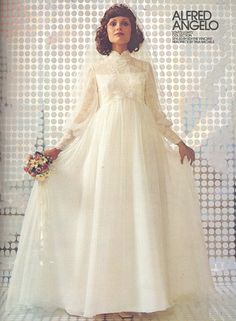 An Alfred Angelo original styled by Edythe Vincent-February 1973