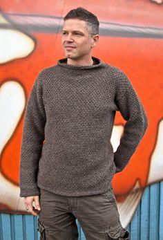 Mr Darcy sweater - (S-XXL) - by Cheryl Niamath - free pattern Jumper Knitting Pattern, Knitting Patterns Free, Knit Patterns, Free Knitting, Free Pattern, Mens Knit Sweater, Man Sweater, Grey Sweater, Mr Darcy