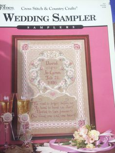 Vintage Cross Stitch Wedding Sampler