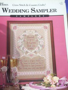 Vintage Cross Stitch Wedding Sampler