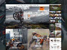 KTM.com Landing Pages by Dann Petty