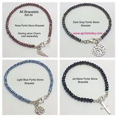 Pyrite Stone Charm Bracelets