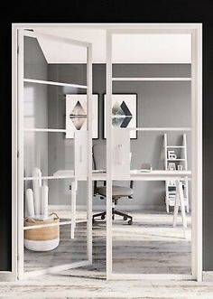 Manufactured in Aluminium with tempered glass. For Sale are a pair of Industrial Style Interior Double Doors, now available in white. Internal Double Doors, Double Glass Doors, Glass French Doors, French Doors Patio, Glass Internal Doors, Double Doors Interior, Interior Glass Doors, Glass Office Doors, Indoor Glass Doors