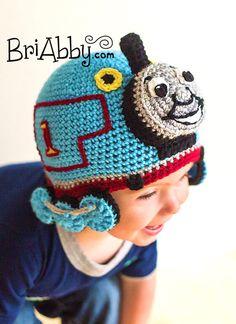Crochet Train Hat PATTERN (PDF File) by BriAbbyHMA on Etsy https://www.etsy.com/listing/115542423/crochet-train-hat-pattern-pdf-file