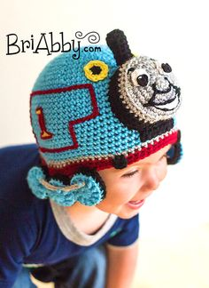 Crochet Train Hat PATTERN (PDF File) by BriAbbyHMA on Etsy https://www.etsy.com/listing/115542423/crochet-train-hat-pattern-pdf-file
