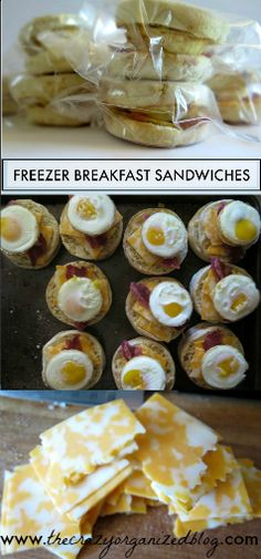 Freezer Breakfast Sanwiches - make these in bulk, freeze them to have for a quick and hearty breakfast on a busy day!