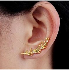 Vine Of Life Crystals Earring Ear Cuff Gold ~ Per Pair 63069