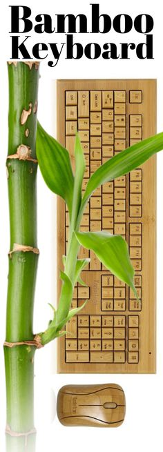 Bamboo Keyboard - anti-static, non-toxic, eco-friendly, antibacterial, acarid-defending, and odor-proof.