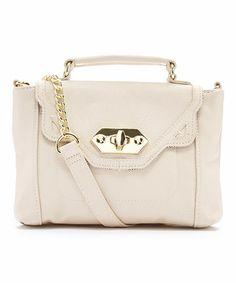 Another great find on #zulily! Cream Tipper Crossbody Bag #zulilyfinds